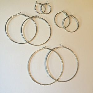 Jewelry - 🌴3/$15🌴 4 Pairs of Hoop Earrings